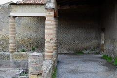 赫库兰尼姆考古学站点,褶皱藻属,意大利 库存图片