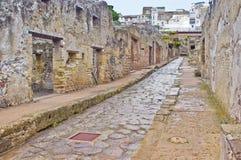 赫库兰尼姆街道,意大利 免版税图库摄影