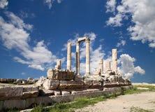 赫拉克勒斯寺庙,阿曼,约旦 图库摄影