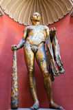 赫拉克勒斯雕象在梵蒂冈博物馆 库存照片