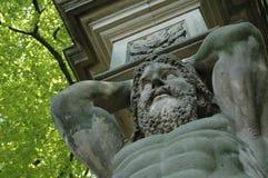 赫拉克勒斯雕象 免版税图库摄影