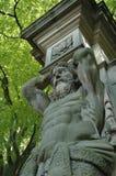 赫拉克勒斯雕象 库存照片
