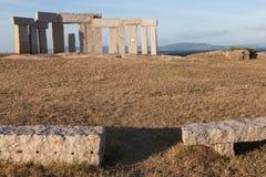 赫拉克勒斯雕刻的公园  库存照片
