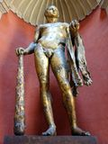 赫拉克勒斯,梵蒂冈博物馆雕象  库存照片