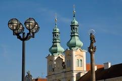 赫拉德茨Kralove,捷克共和国 库存图片