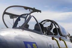 赫拉德茨KRALOVE,捷克- 9月5 :喷气式歼击机航空器米高扬Gurevich米格-15为苏联身分开发了 免版税库存照片