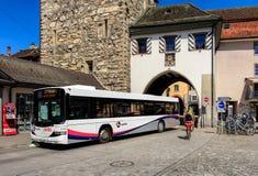 赫斯公共汽车在阿劳,瑞士 免版税库存图片