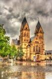 赫日Jesu Kirche,一个教会在科布伦茨 库存照片
