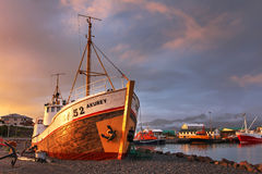 赫本港口,冰岛 免版税库存照片
