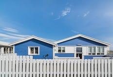 赫本,冰岛- 2018年8月:地道冰岛住宅房子 免版税图库摄影