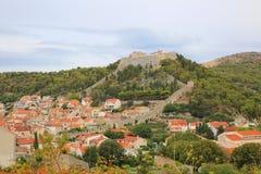 赫瓦尔岛城堡,克罗地亚 免版税库存图片