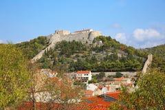 赫瓦尔岛城堡II,克罗地亚 库存图片