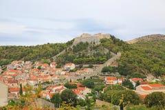 赫瓦尔岛城堡III,克罗地亚 图库摄影