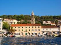 赫瓦尔岛市scape,克罗地亚 免版税库存图片