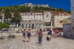 赫瓦尔岛海岛的,克罗地亚Stari毕业 免版税库存照片