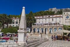 赫瓦尔岛海岛的,克罗地亚Stari毕业 免版税库存图片