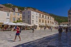 赫瓦尔岛海岛的,克罗地亚Stari毕业 图库摄影