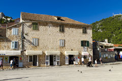 赫瓦尔岛海岛的,克罗地亚Stari毕业 免版税图库摄影