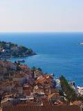 赫瓦尔岛港口,克罗地亚 免版税库存照片