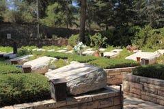 赫茨尔山的全国军事公墓 库存照片