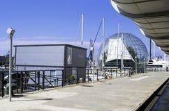 赫诺瓦港在意大利 库存照片