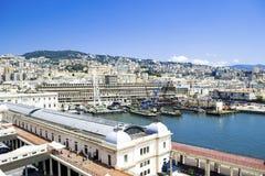 赫诺瓦港在意大利 免版税库存图片