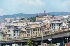 赫诺瓦都市风景,全景从上面 免版税库存图片