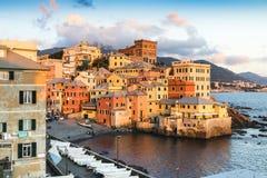 赫诺瓦Bocadasse小游艇船坞意大利 免版税库存照片