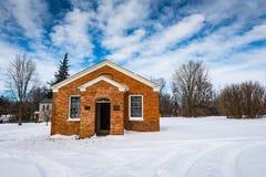 赫里特史密斯庄园的全国历史的Landmar红砖房子 免版税库存图片