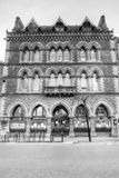 赫里福德市立图书馆、博物馆和美术画廊低角度 免版税库存照片