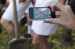赫雷斯,西班牙- 2013年9月10日:使用新闻照片的机动性 免版税库存照片