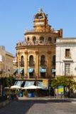 赫雷斯de la弗隆特里, Edificio加洛Azul 免版税库存图片