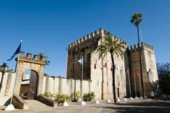 赫雷斯de la弗隆特里-西班牙城堡  免版税库存图片