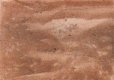 赭色抽象水彩例证 库存图片
