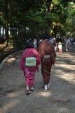走与他们的yukata的夫妇 库存照片