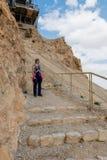走从masada山的Womam 图库摄影