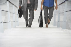 走台阶的两买卖人 免版税图库摄影