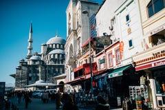 走在伊斯坦布尔的人们 免版税图库摄影