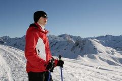 走在冬天8的北欧人 免版税库存照片