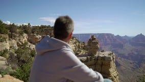 走在大峡谷的人 股票录像