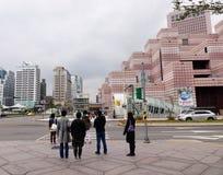 走在街道上的人们在台北,台湾 图库摄影