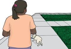 走在边路的狗 库存例证