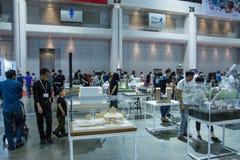 走在建筑师商展` 17的人们 免版税库存图片