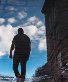 走在Cuebec市,加拿大的无形的人 免版税库存图片