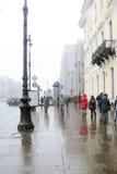 暴风雪在圣彼德堡 免版税库存图片