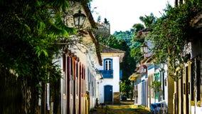 走在Paraty,里约热内卢 免版税图库摄影