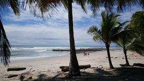 走在Playa圣诞老人的冲浪者 库存图片