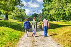走在Topsmead国家公园内 库存照片