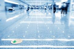 走廊地面符号 免版税库存图片