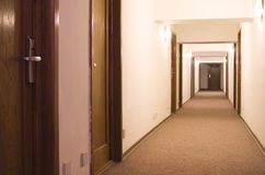 走廊旅馆 免版税库存图片